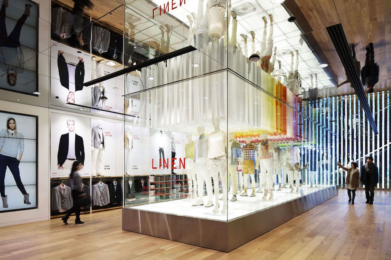 Emmanuelle Moureaux, UNIQLO window installations, Ginza Flagship store