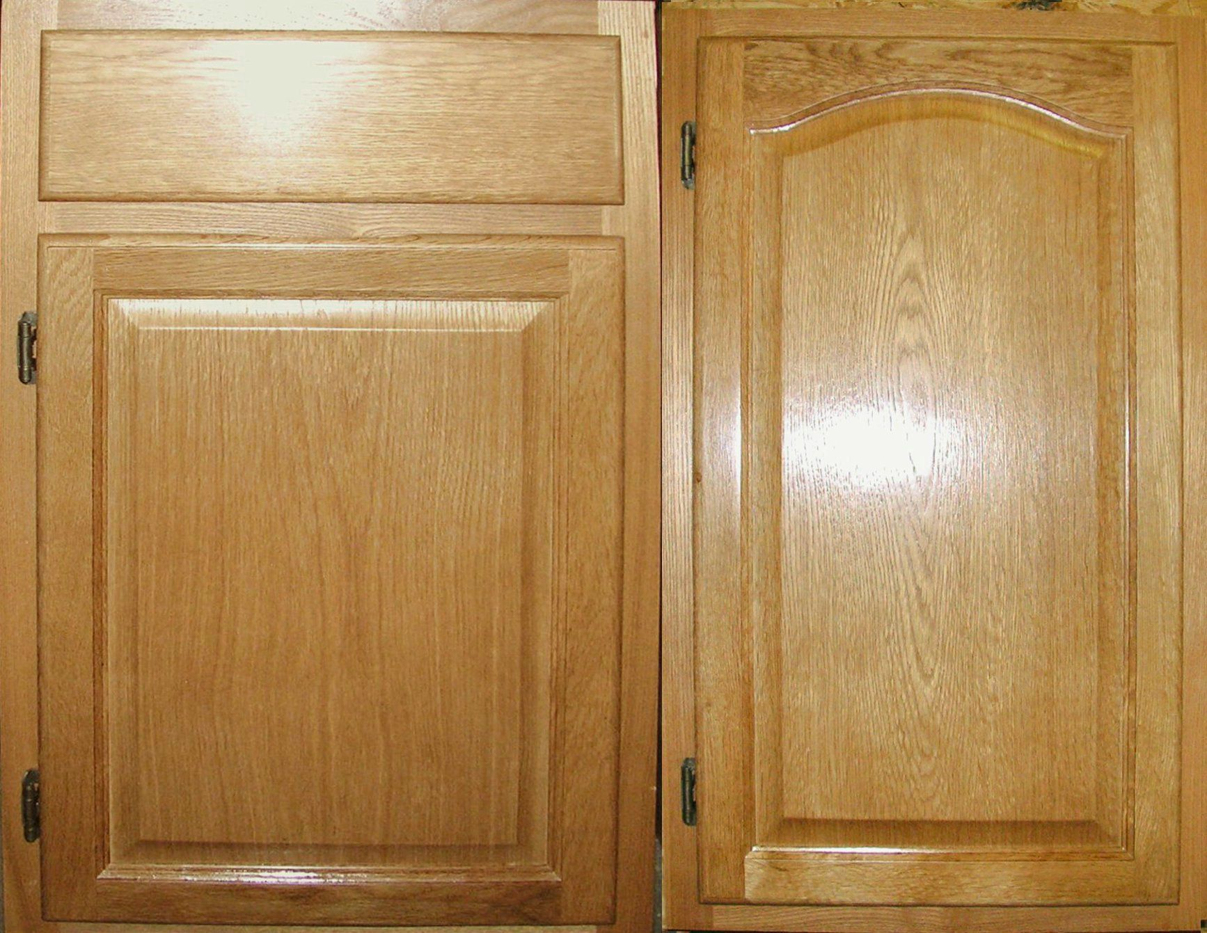 All Wood Raised Panel Arch Uppers Oak Wooden Kitchen Cabinets Unfinished Cabinet Doors Oak Kitchen Cabinets