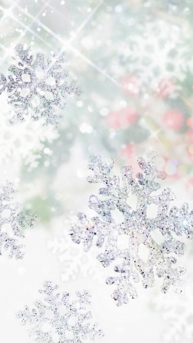 Photo of Sparkling snowflake ~ wallpaper/lock screen/background