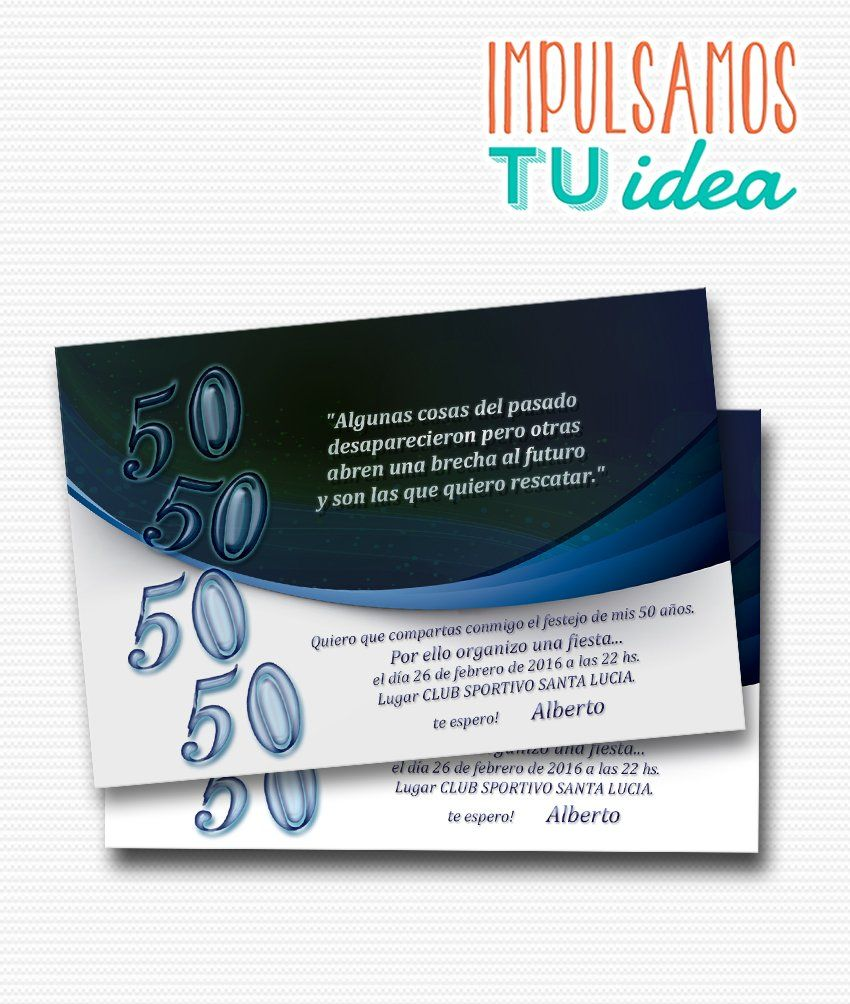Cumple Adultos Tarjeta Cumple 50 Para Imprimir