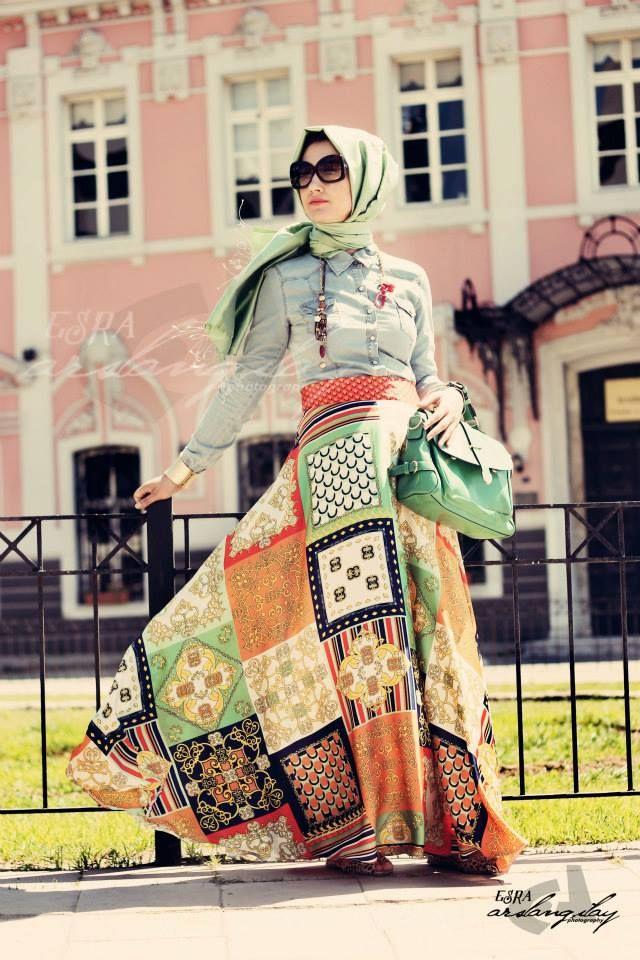 #Mint #Ethnic #Skirt #Hijab  #boho #hijabfashion #muslimgirls #fashion #hijabstreetstyle #islamicfashion #streetstyle #turkish