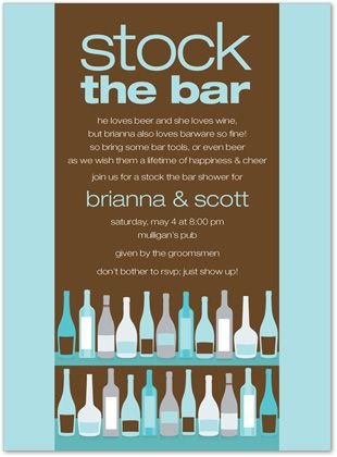 Bar Cocktail Bridal Shower Invitations Bar Shelf Chocolate Bali