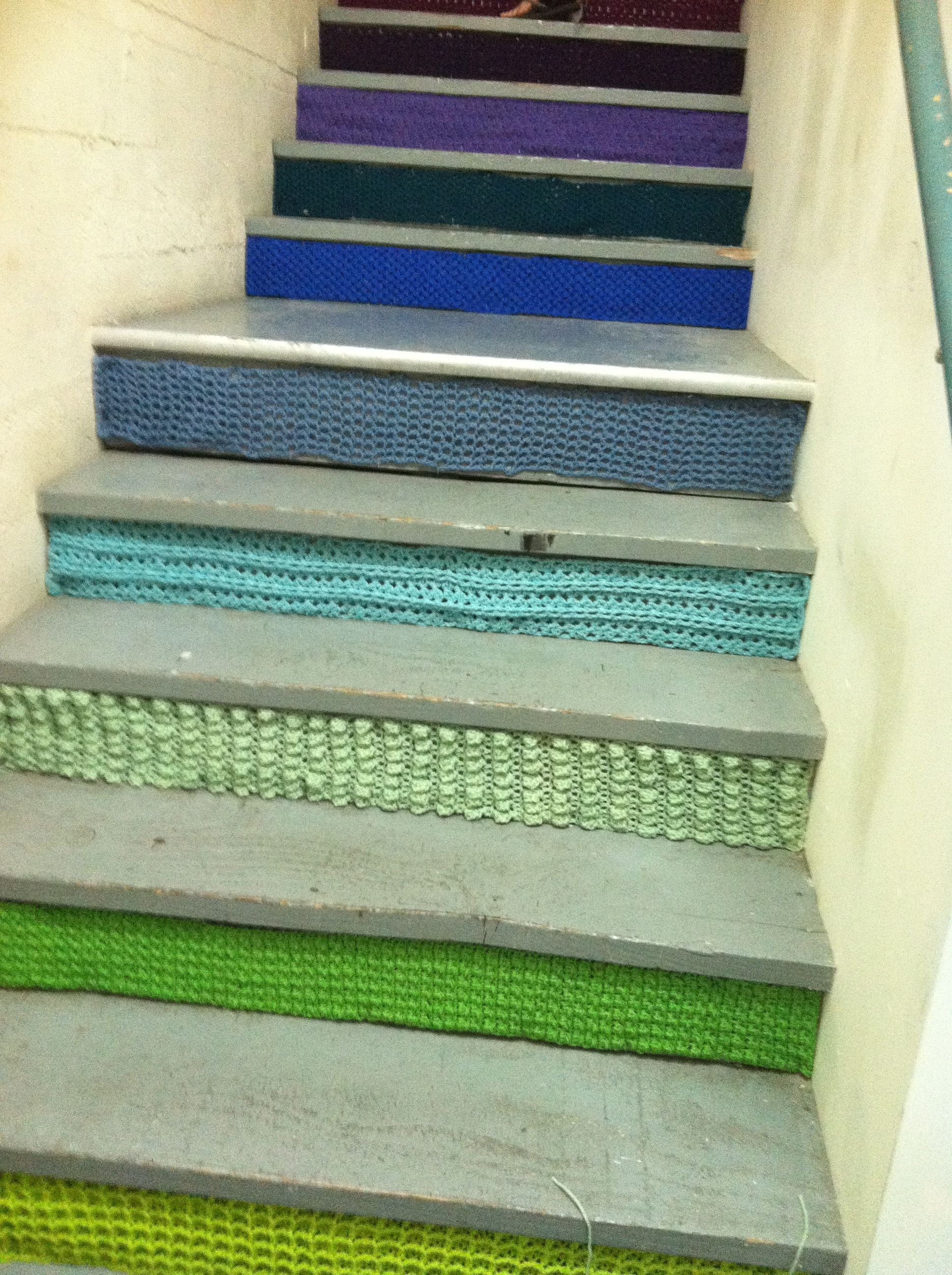 knit staircase!