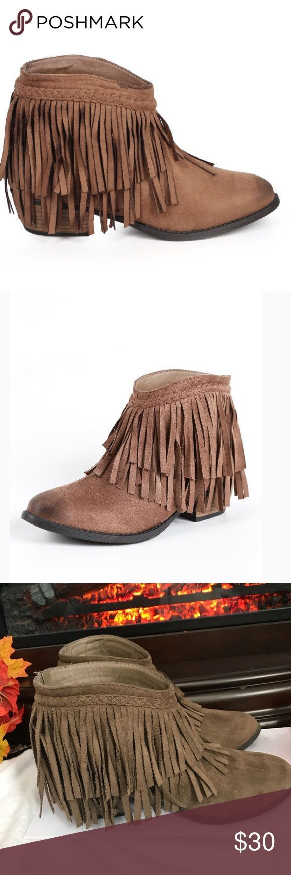NATURE BREEZE NOMAD FRINGE ANKLE BOOT size 6 NATURE BREEZE NOMAD FRINGE ANKLE BO #skinnyjeansandankleboots NATURE BREEZE NOMAD FRINGE ANKLE BOOT size 6 NATURE BREEZE NOMAD FRINGE ANKLE BO #skinnyjeansandankleboots