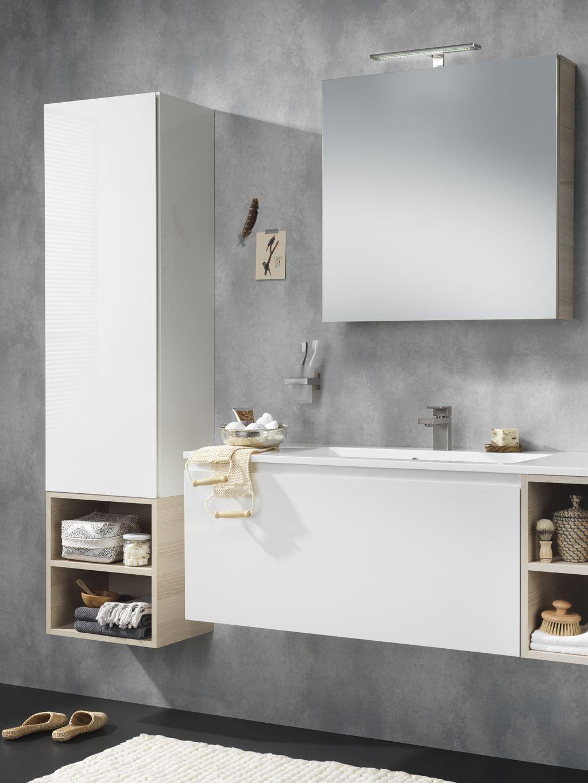 Bad ka design miller wastafelonderkast  kolomkast  spiegelkast  scandinavische