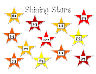 Shining Stars Subtraction Game Bunches Of Beads Students Will Get Out An Ice Tray And Beads The Will Read The Label Math Freebie Math Centers Math