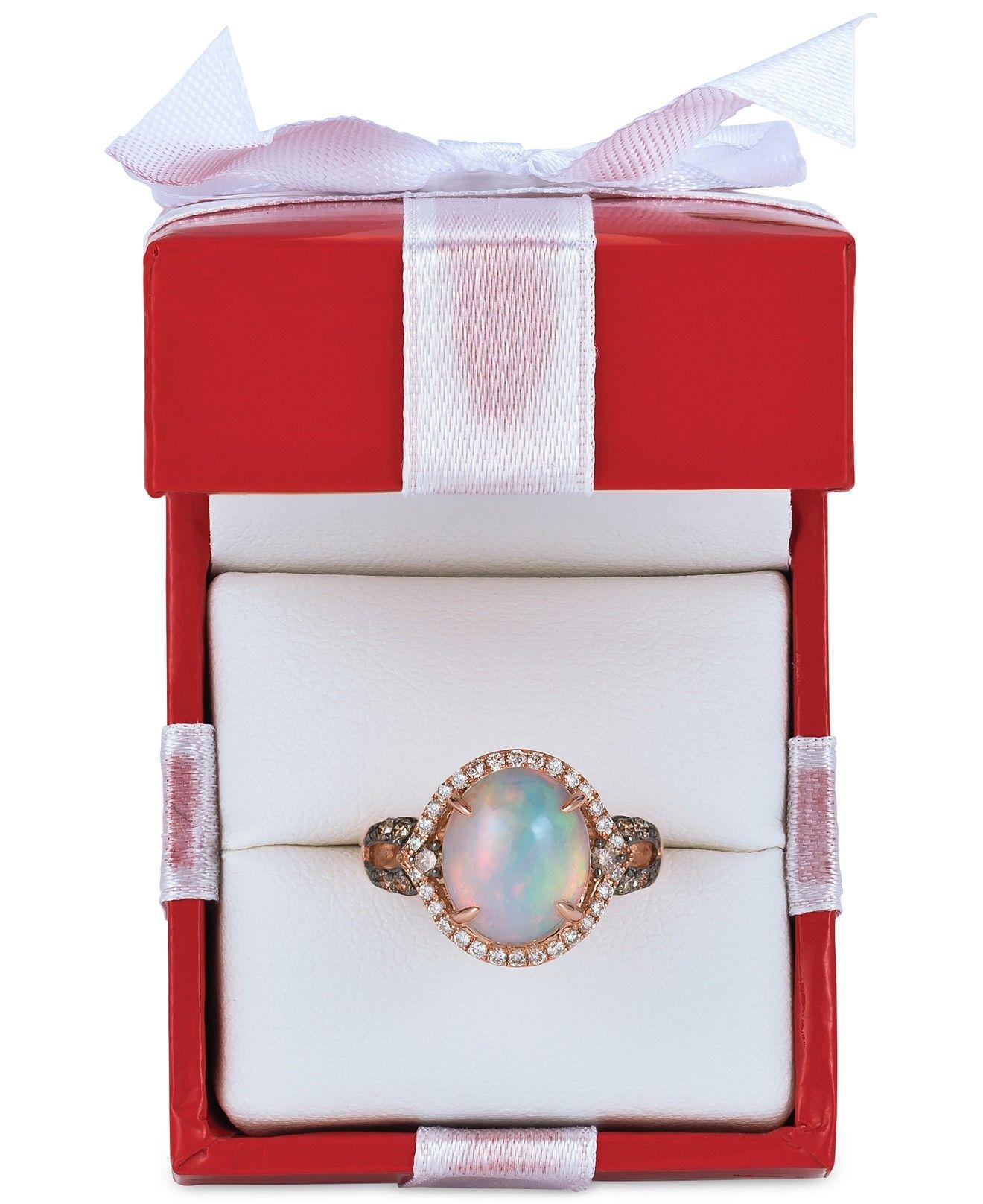 Levian Chocolatier Opal 2 1 3 Ct T W Chocolate Diamonds And Vanilla Diamonds 1 2 Ct T W Ri Vanilla Diamonds Chocolate Diamonds Brown Diamond Ring