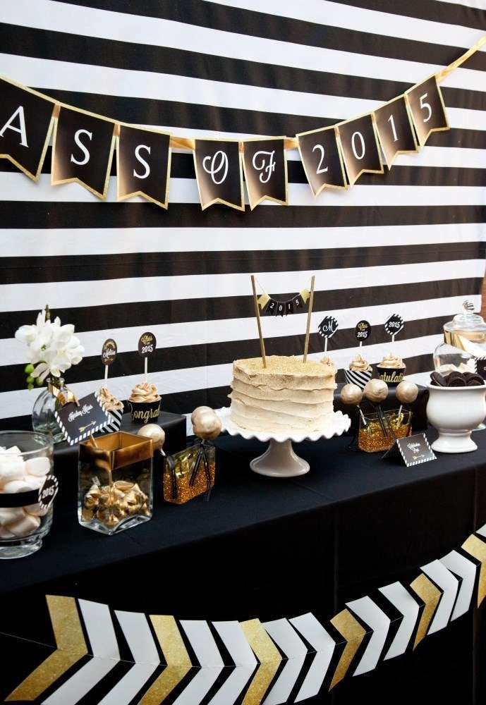 Black And Gold Graduation Party Graduation End Of School Party