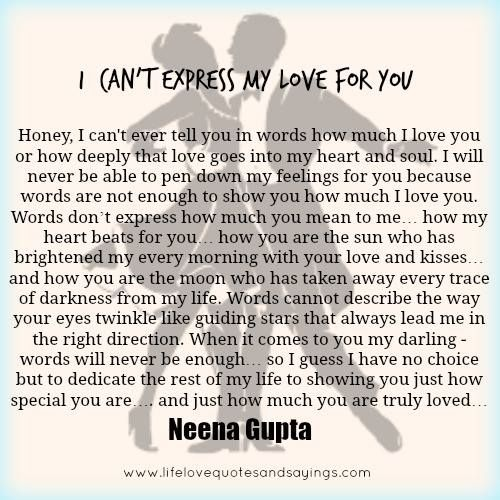 Special My Love For You Quotes