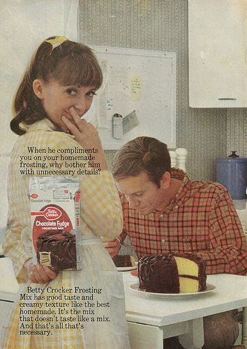 Betty Crocker Chocolate Fudge cake frosting