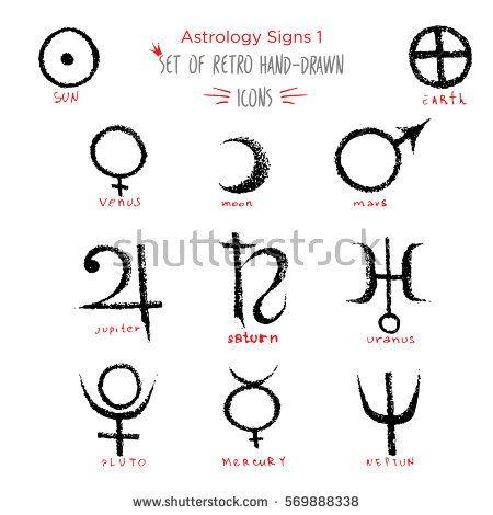 Image Result For Uranus Symbol Hand Drawn The Fool Pinterest