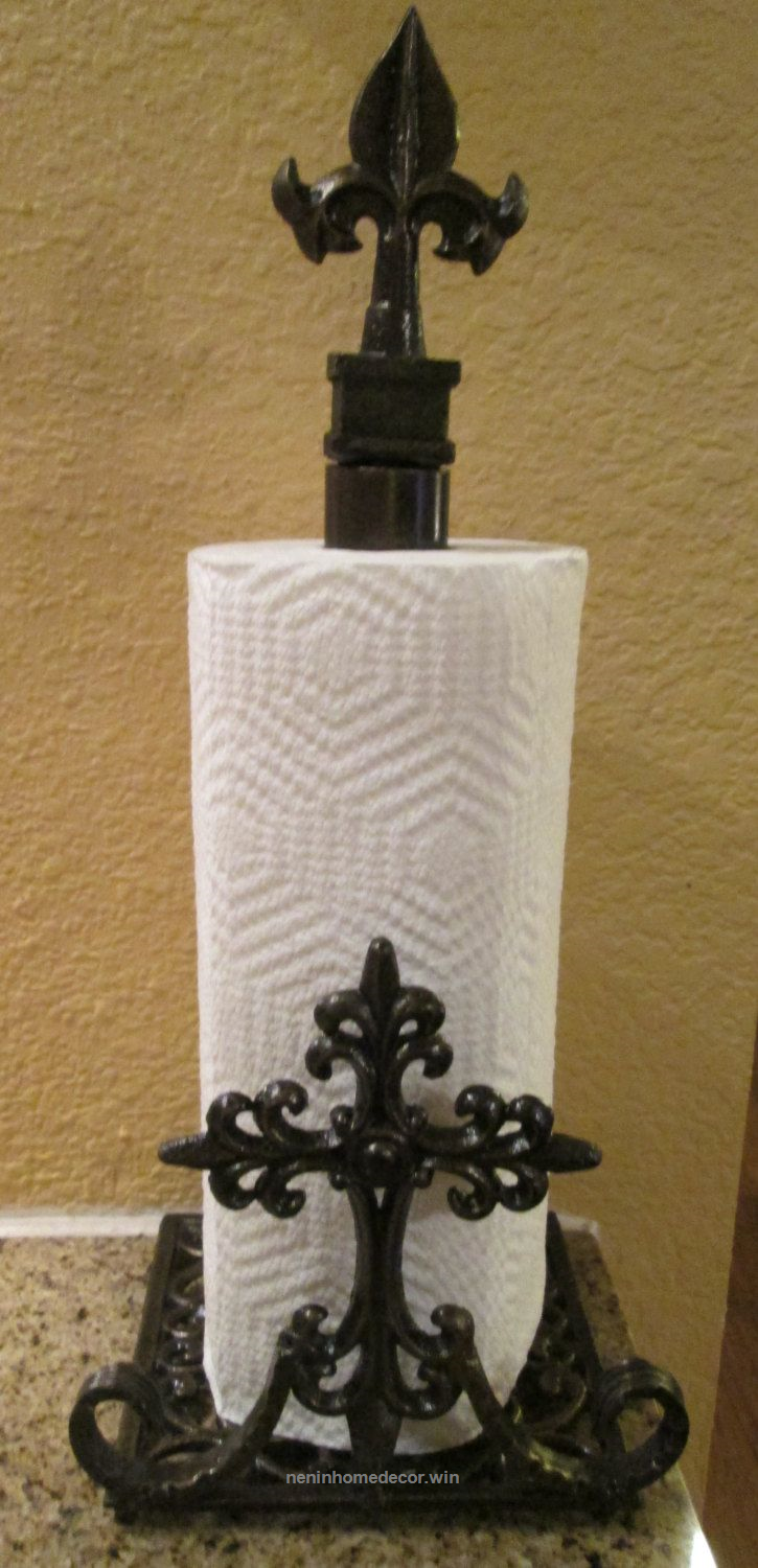 Iron Paper Towel Holder. Original. Old World Tuscan Kitchen Medieval French  Goth...   Nenin Decor