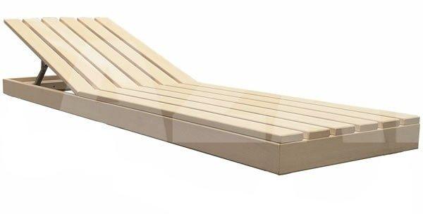 Saunabank verstellbar, Erle 50 cm breit Sauna, Haus