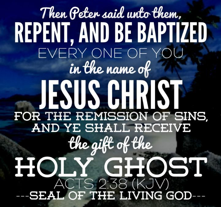 Then Peter said unto them, Repent, and be baptized every