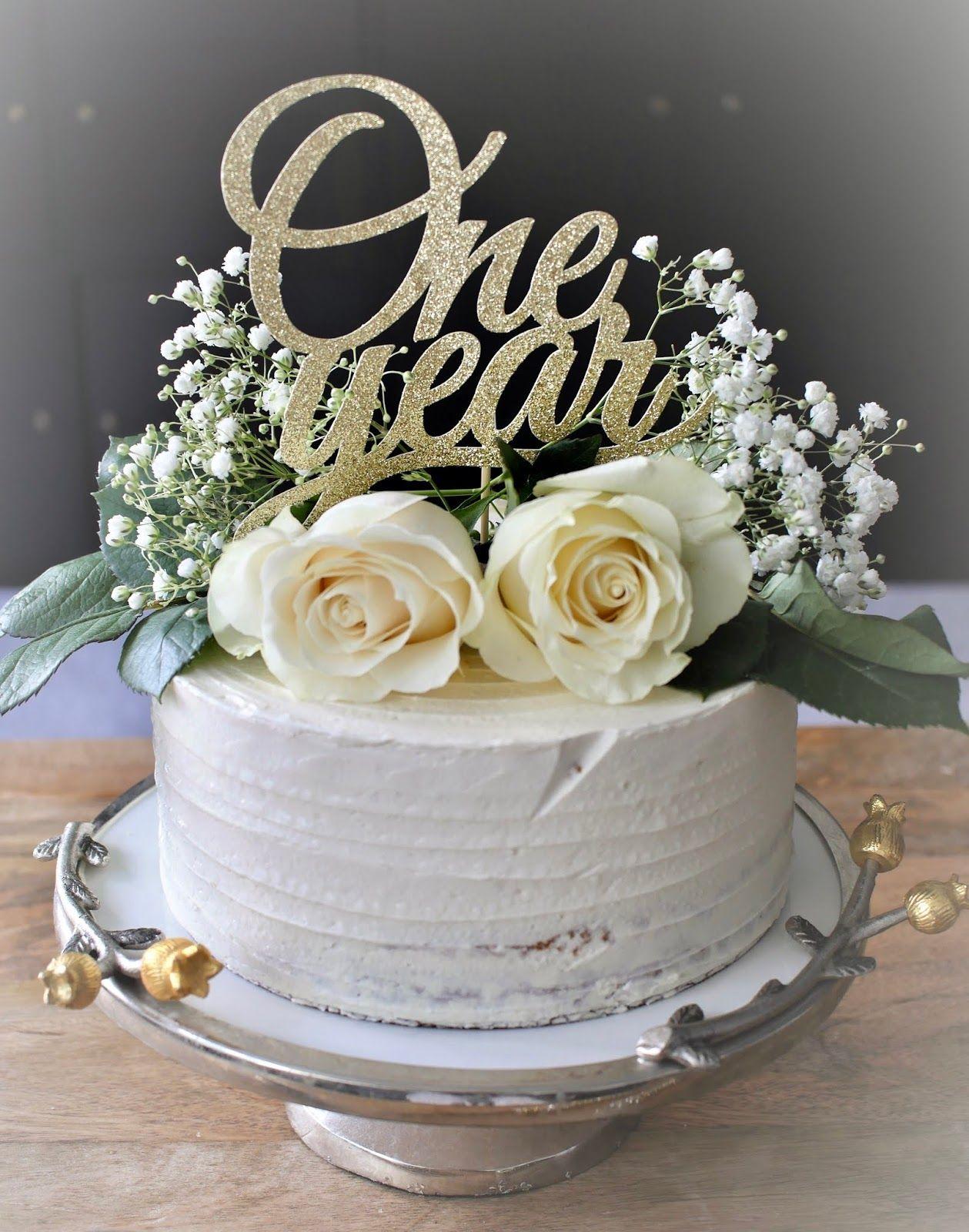 THE URBAN MONARCH 1 Year Wedding Anniversary Cake