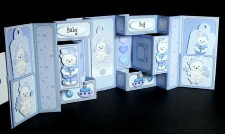 3d Teddy Ed Double Tri Shutter Card Kit Tri Fold Card Pinterest