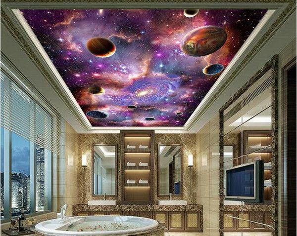 Space Galaxy 3d Ceiling Ceiling Mural Large Mural Wallpaper