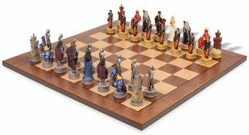 Legend of king arthur theme chess set package antique for Tavolo degli hobby