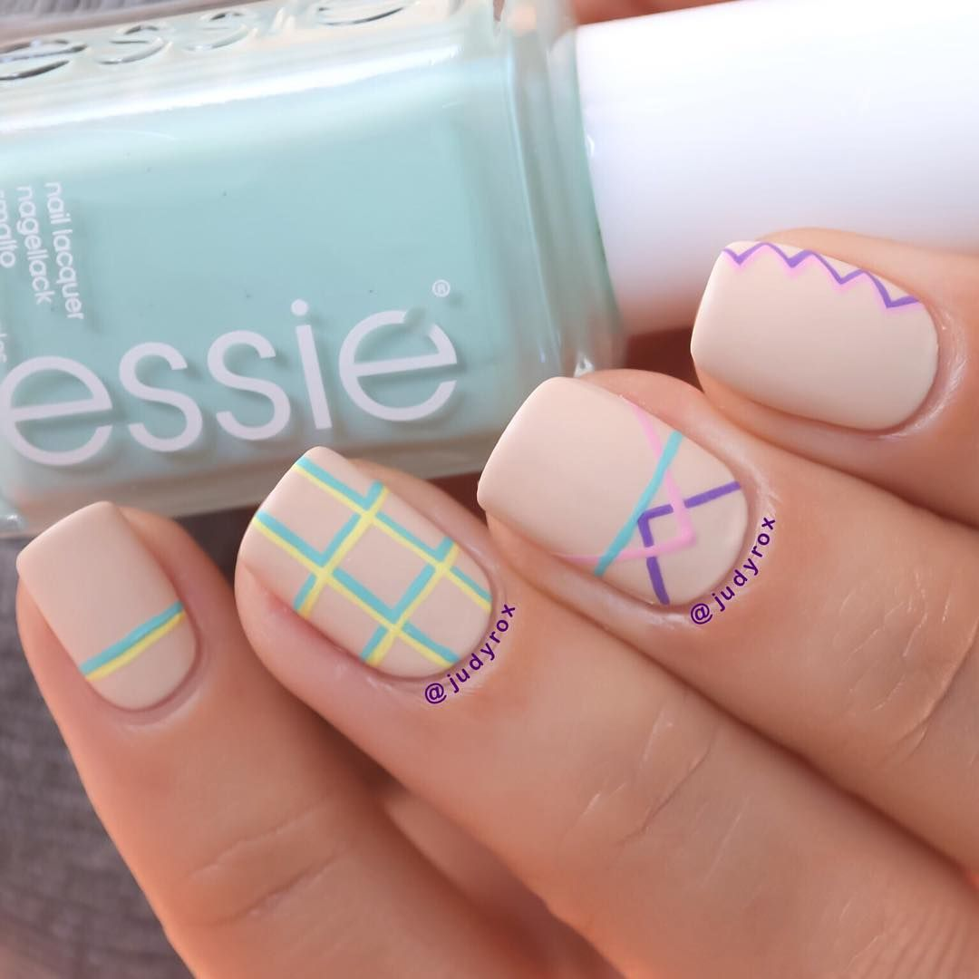 Detailed geometric nail art by @judyrox | Nail Designs | Pinterest ...