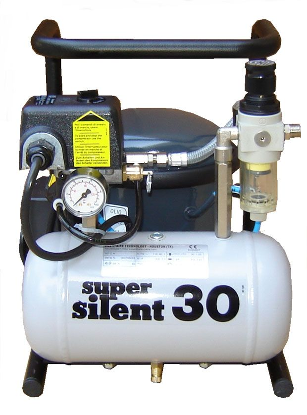 Silentaire Super Silent 30 Tc Silent Running Airbrush Compressor Portable Air Compressor Silent Air Compressor Portable Air Compressor Air Compressor