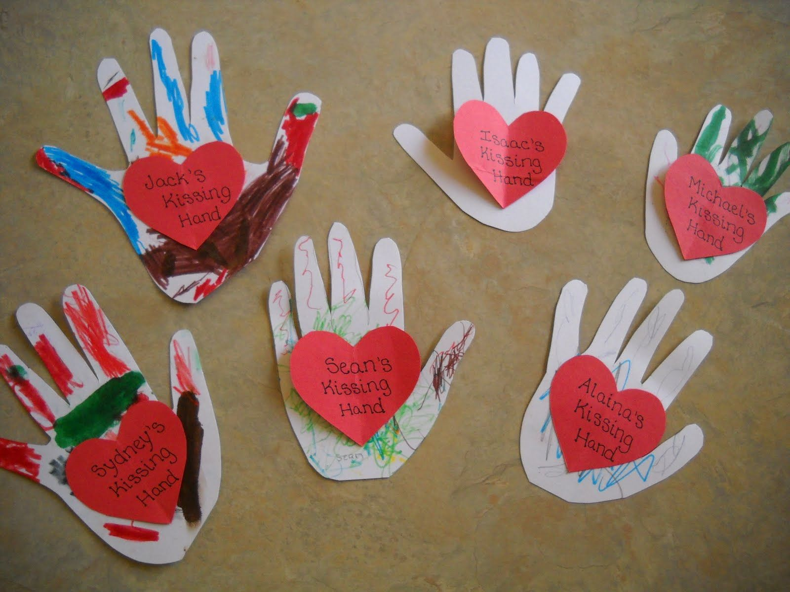 The kissing hand activities google search valentines for Crafts with hands
