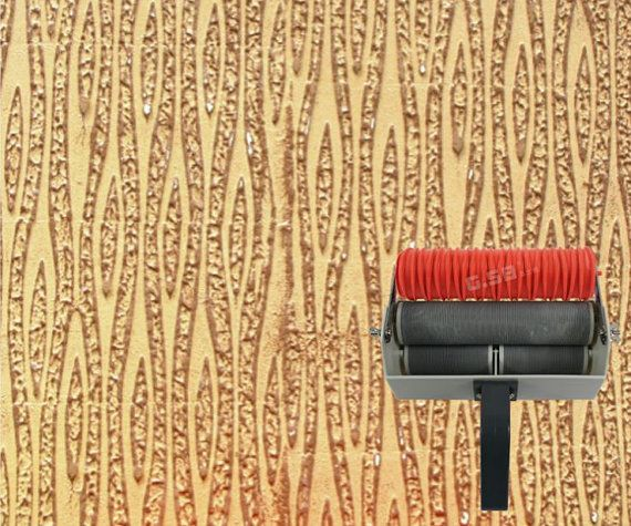 Tv Wall Print Patterned Paint Roller Liquid Pattern Design Roller