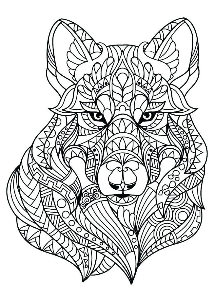 Wolf Coloring Pages For Adults Best Coloring Pages For Kids Animal Coloring Books Dog Coloring Page Mandala Coloring Books