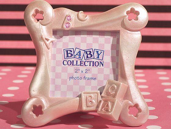 Abc Baby Block Design Pink Frame Favor Babyblock Babypink Baby