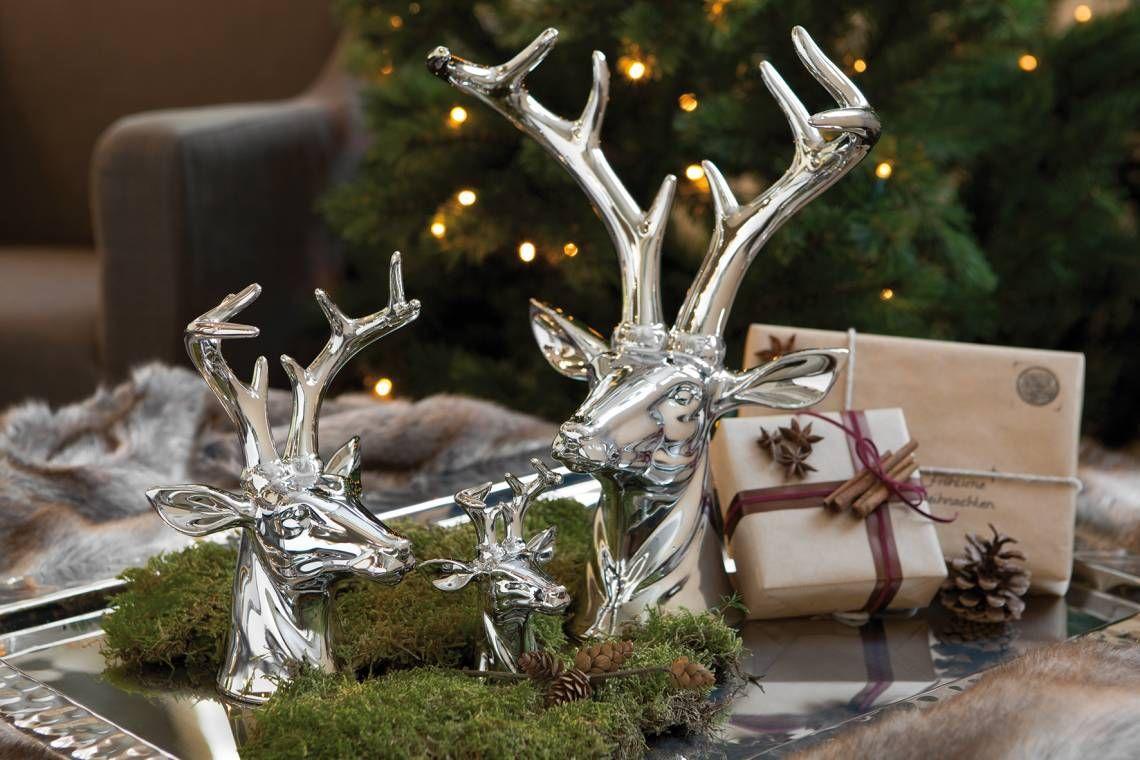fink living rena hirschkopf weihnachten weihnachtsdekoration pflanzgefasse tierkopf plüsch 3d wanddeko kinderzimmer