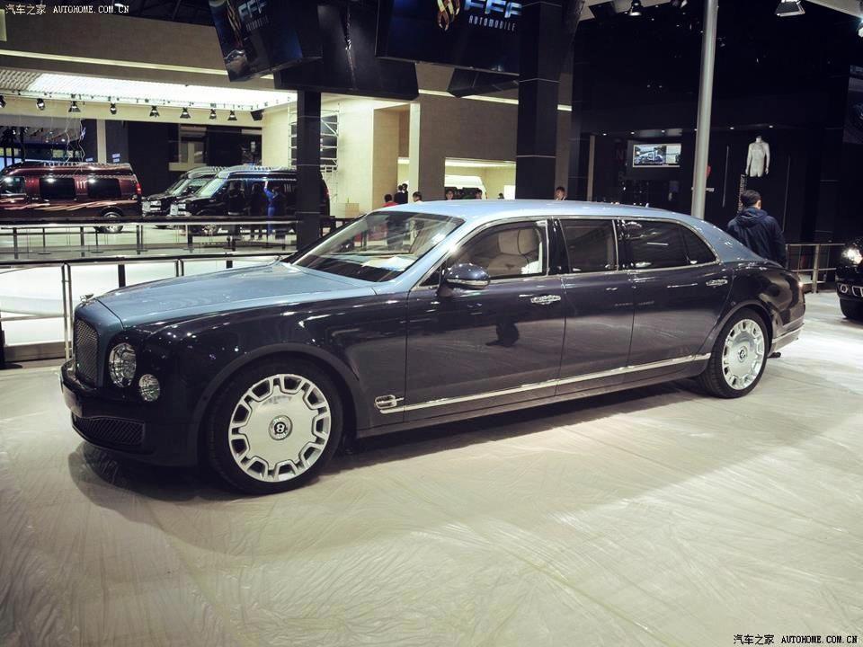 Shanghai 2013: Armoured Bentley Mulsanne Limousine by Carat ... on bentley truck, bentley coupe, bentley turbo r, bentley brooklands, bentley mussolini in miami, bentley s2, bentley flying b hood mascot, bentley corniche, bentley station wagon, bentley eight, bentley s3, bentley with rims blue blue, bentley t1, bentley arnage, bentley logo, bentley s1,