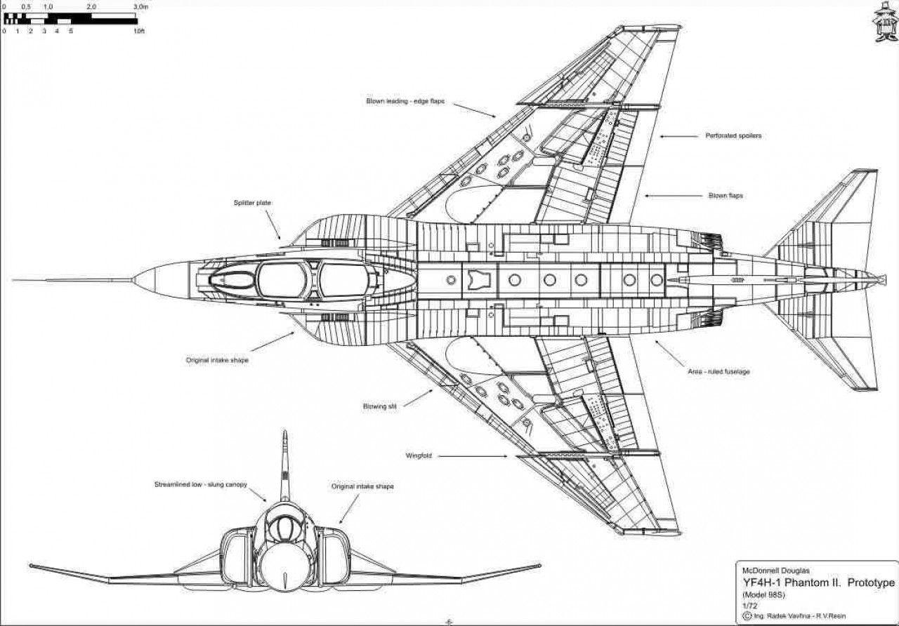 Military Aircraft Blueprint