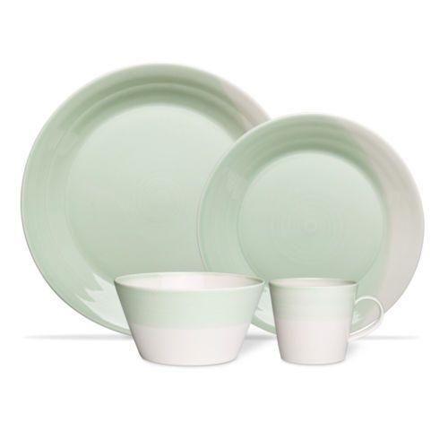 NEW-Royal-Doulton-1815-Green-Dinner-Set-16pce