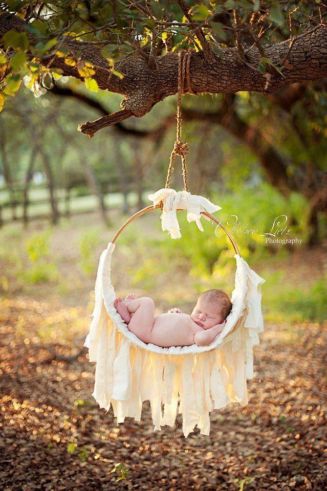 Newborn Muslin Hammock Photo Prop Another Woodsy Wonders