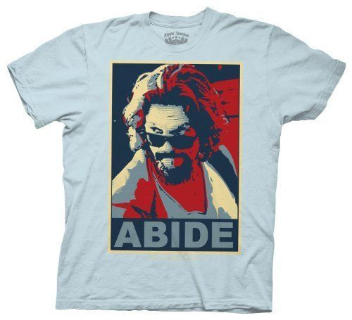 ce87cd82b The Big Lebowski Parody Abide Light Blue T-shirt in 2019 | My kind ...