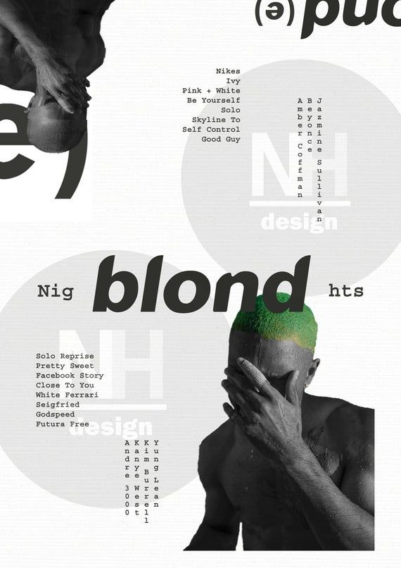 Frank Ocean Blonde / Blond Poster - Poster, Cover Art, Home Wall Decor, Music Album Artwork. A2, A3, A4, Digital Download, Any Size