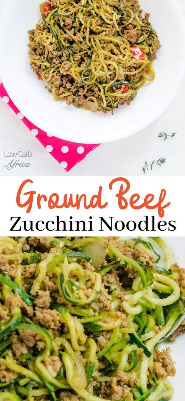 A delicious low carb ground beef zucchini noodle recipe