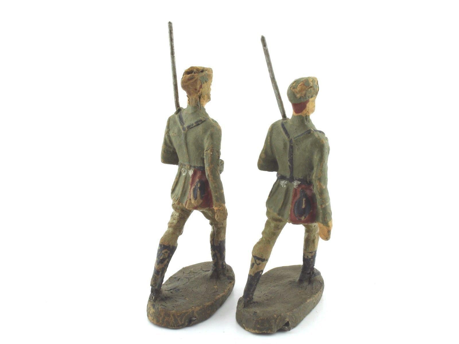 Elastolin Lineol - 2 x antike Soldaten marschierend, 7cm | eBay