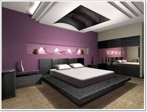 Hd Wallpapers Modern Purple Black And White Bedroom High Resolution Wallpaper