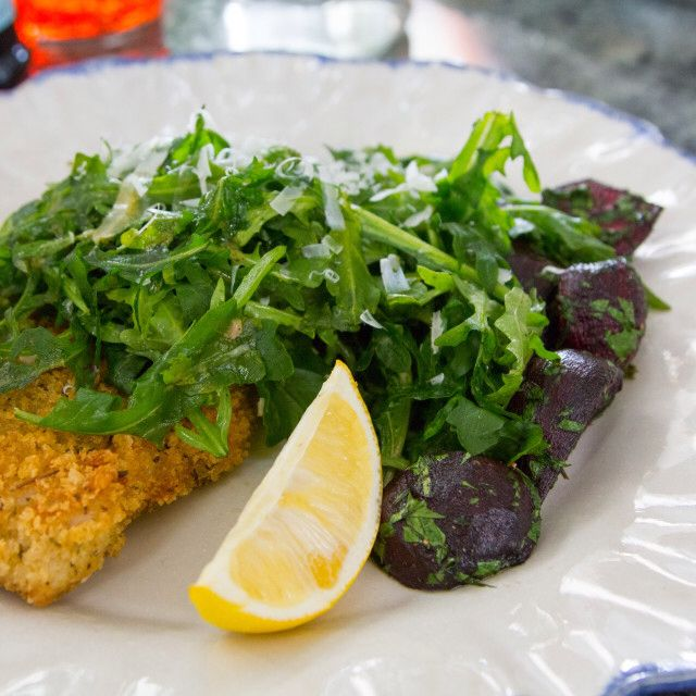 Chicken Cutlets With Spicy Arugula