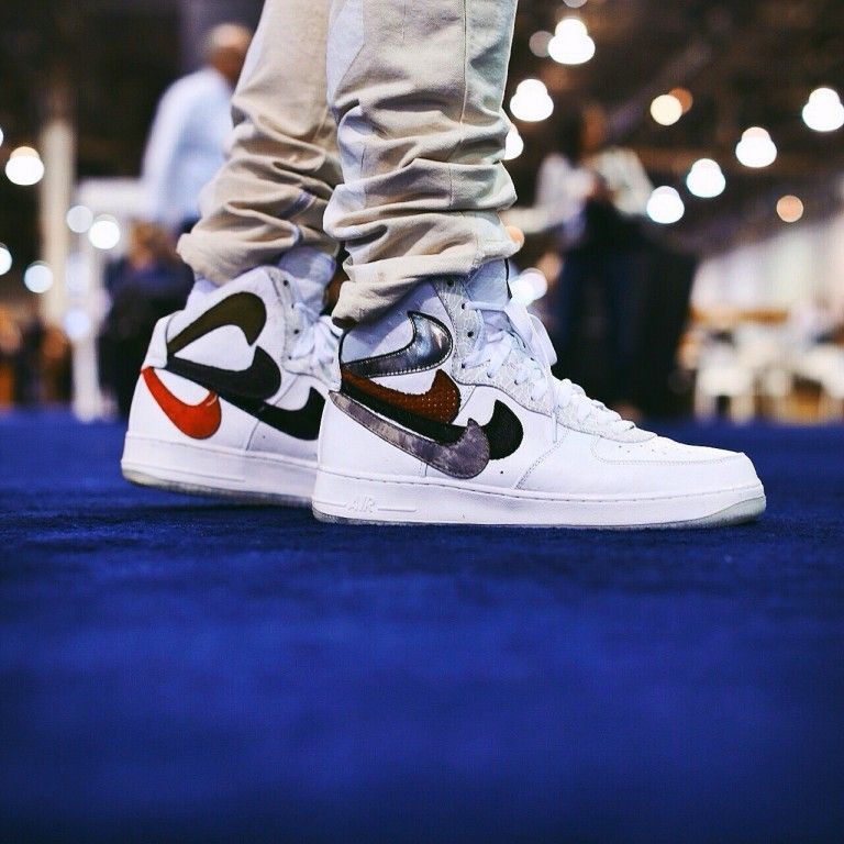air force 1 with 2 nike checks