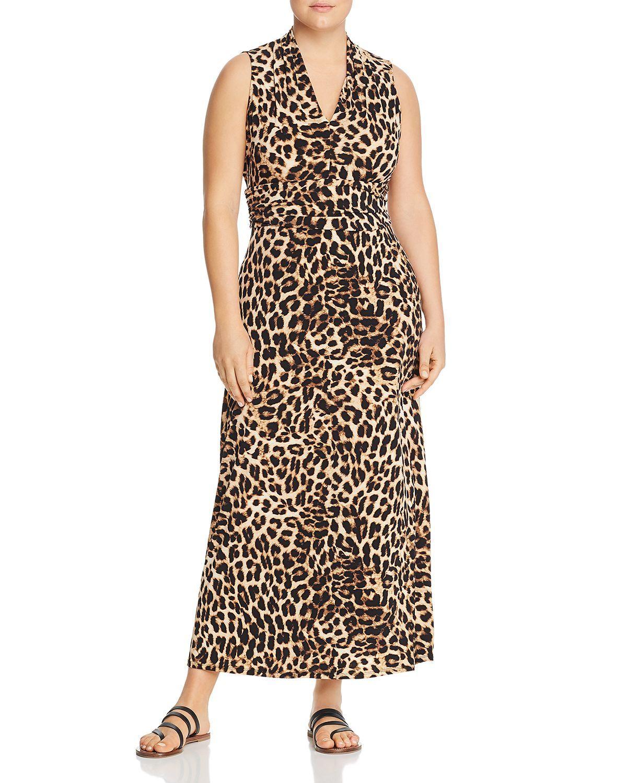 Vince Camuto Plus Leopard Print Maxi Dress Leopard Print Maxi Dress Womens Maxi Dresses Maxi Dress Online [ 1500 x 1200 Pixel ]