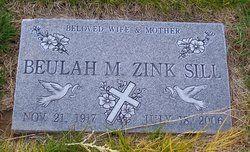 Beulah Zink Sill. Paternal Line. Dubois Cemetery, Dubois, Clark Co., Idaho