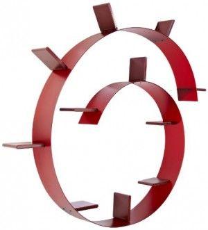 Libreria Kartell Bookworm di Colore Rosso Vino Dimensioni: 520 x 19 ...