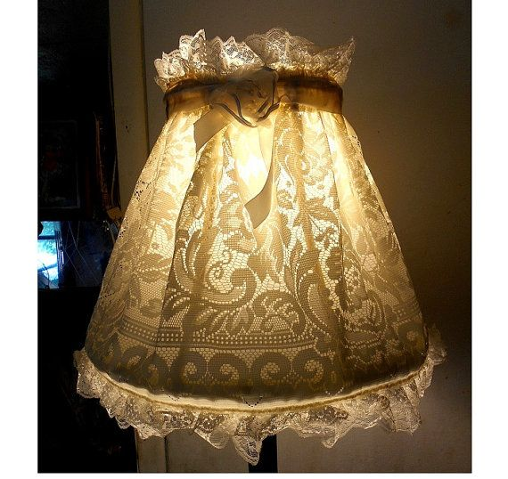 Shabby chic french boudoir country cottage off white lace with shabby chic french boudoir country cottage off white lace with r1ose vintage lacey lace lamp shade cover removable washabley 9990 aloadofball Choice Image