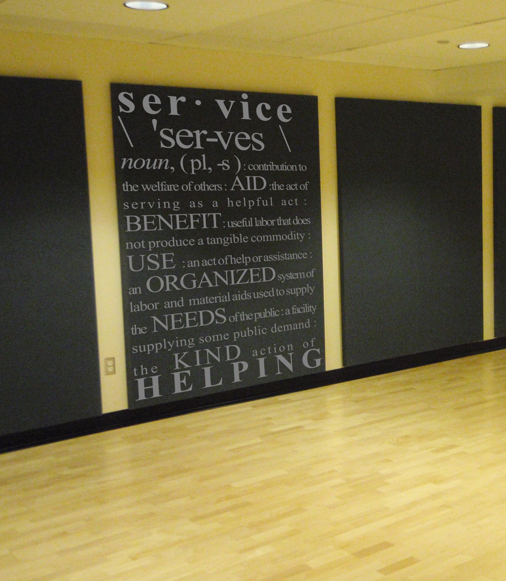 Service Definition Wall Decal | recognition wall | Pinterest ...