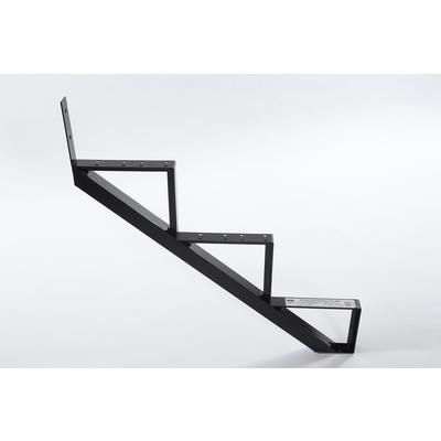 Best Pylex 3 Steps Black Aluminium Stair Riser Each 14053 400 x 300