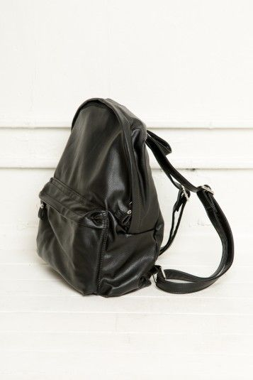Brandy ♥ Melville   Black Leather Backpack - Accessories