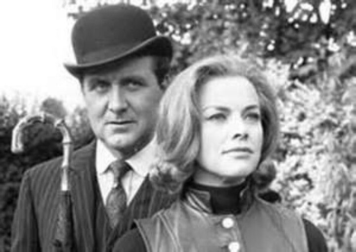 John Steed and Cathy Gale (Patrick Macnee and Honor Blackman)