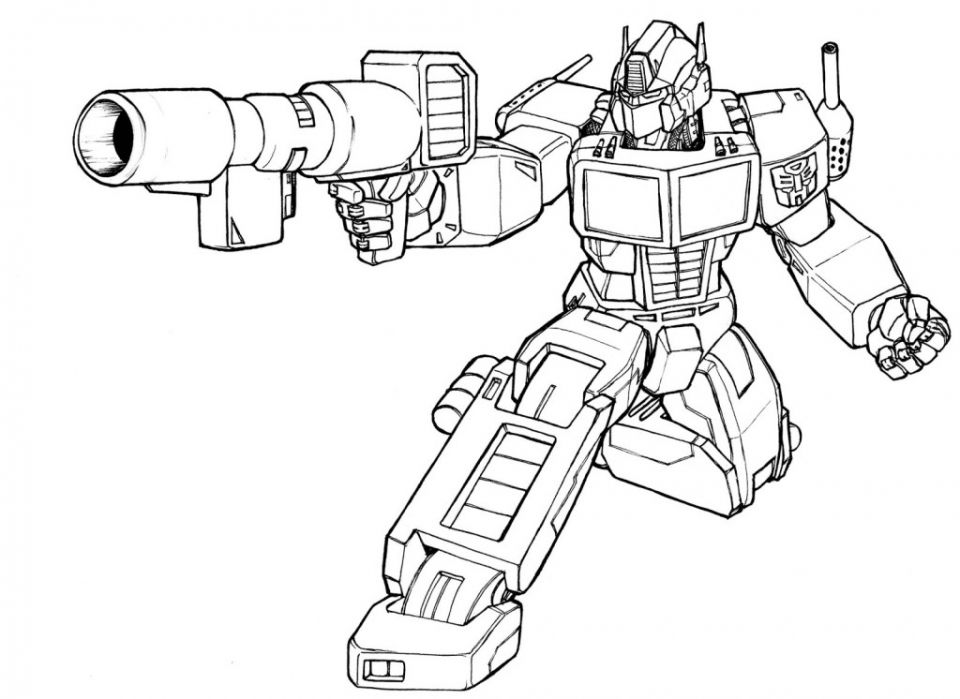 Optimus Prime To Color# 2540552 | Coloriage, Coloriage ...