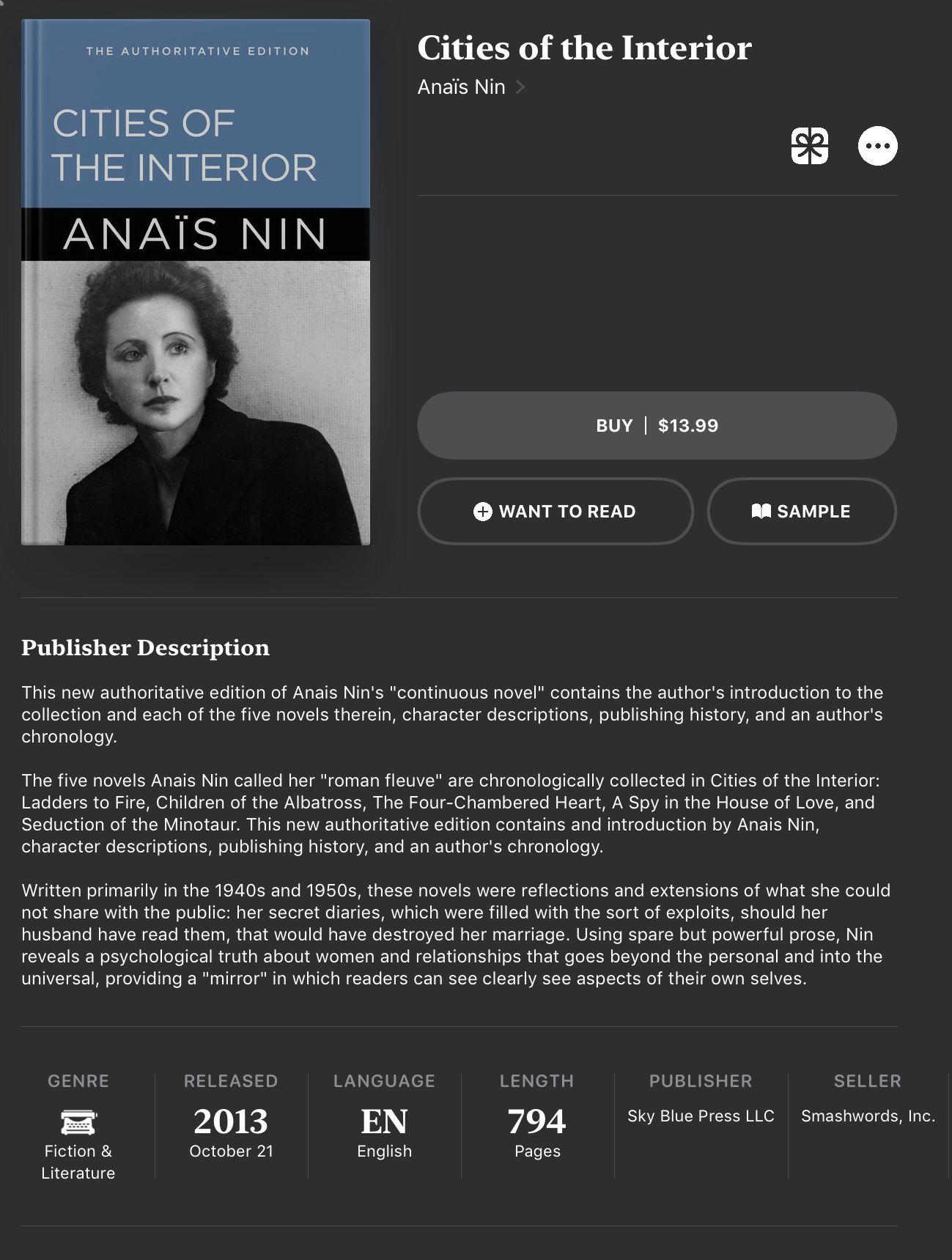 13++ Anais nin books ranked ideas in 2021